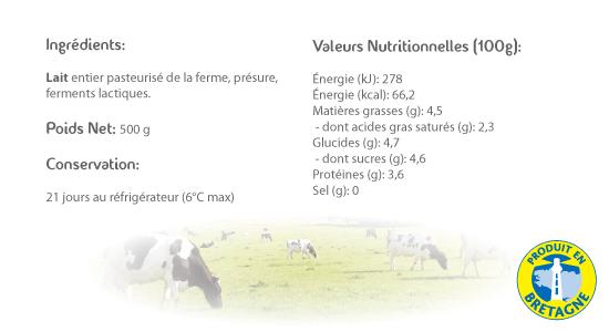 LE CRAULOIS - Mon fermier préféré - Produits laitiers fermiers - Lait Caillé Fermier Détails