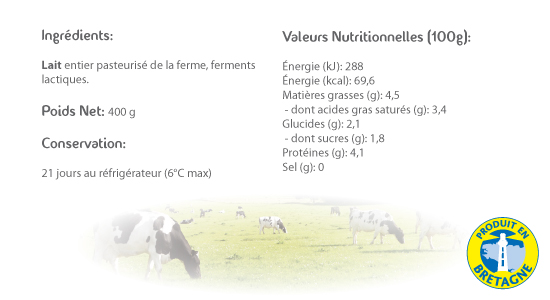 LE CRAULOIS - Mon fermier préféré - Produits laitiers fermiers - Faisselles fermières détails
