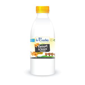 LE CRAULOIS - Mon fermier préféré - Produits laitiers fermiers - Yaourt à boire Vanille