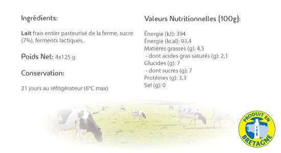LE CRAULOIS - Mon fermier préféré - Produits laitiers fermiers - Yaourts Sucrés Fermiers Détails