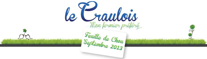 LE CRAULOIS - Newsletter Septembre 2013
