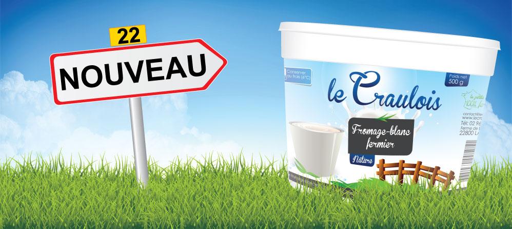 LE CRAULOIS - Fromage Blanc fermier - Nouveau pot de fromage-blanc