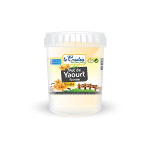 LE CRAULOIS - Mon fermier préféré - Produits laitiers fermiers - Pot de Yaourt Vanille