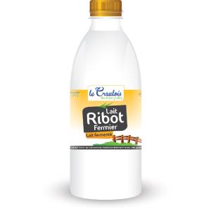 LE CRAULOIS - Mon fermier préféré - Produits laitiers fermiers - Lait Ribot Fermier 1 Litre