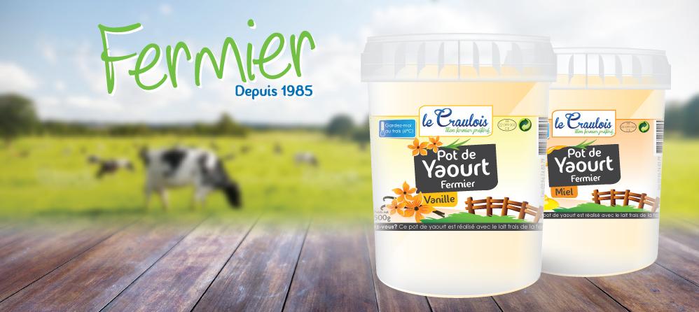 LE CRAULOIS - Mon fermier préféré - Produits laitiers fermiers - Le Yaourt Fermier en pot
