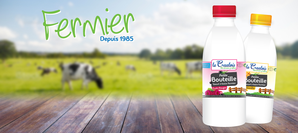 LE CRAULOIS - Mon fermier préféré - Produits laitiers fermiers - Le Yaourt Fermier à boire